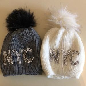Accessories - Set of 2 sparkly NYC hats